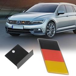 1pc voiture avant gril Grille emblème Badge autocollant autocollant époxy drapeau allemand Logo emblème pour la décoration de voiture