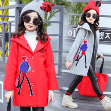 New Arrival Girls Coats And Jackets Teenage Kids Letter Long Outerwear Little Children Fashion Clothing For Spring & Autumn