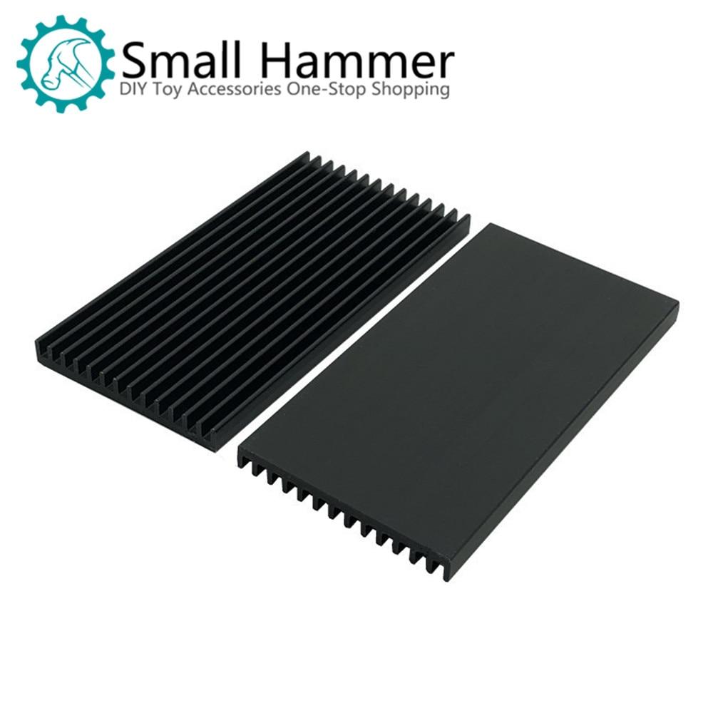 80*40*5MM Heat Sink Aluminum Profile Radiator Electronic Heat Sink Black Thin Section