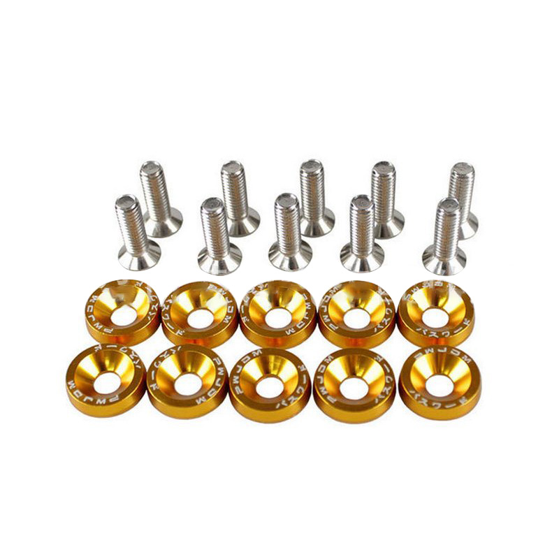 10PCS M6x20 car Universal Car Styling Modification JDM Sticker Stickers Password Fender Washer License Plate Bolts Auto Accessorie (8)