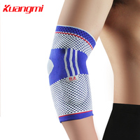 Kuangmi 1PC Gel Knitted Elbow Pads Sleeve Elbow Support Brace Elbow Pain Protector Sport Compression Sleeve Tennis Weightlifting