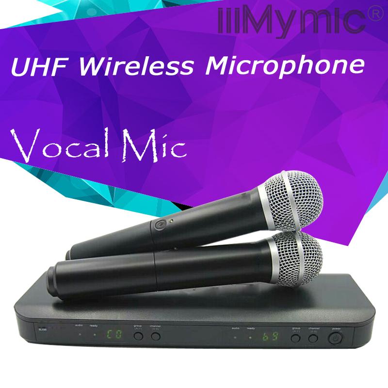 Prix pour UHF Sans Fil Microphone Karaoké Système Professionnel Double Émetteur De Poche Mic pour la Scène DJ KTV