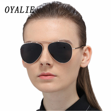 OYALIE New Men Sunglasses Polarized Sun Glasses Women Oval Metal With Accessories Pilot Driving Goggles Gafas de sol