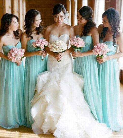 aqua color bridesmaid dresses