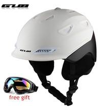 Professional CE Certification PC+EPS Adult Ski Helmet Man Women Skating Skateboard Snowboard Snow Sports Helmets with glasses недорого