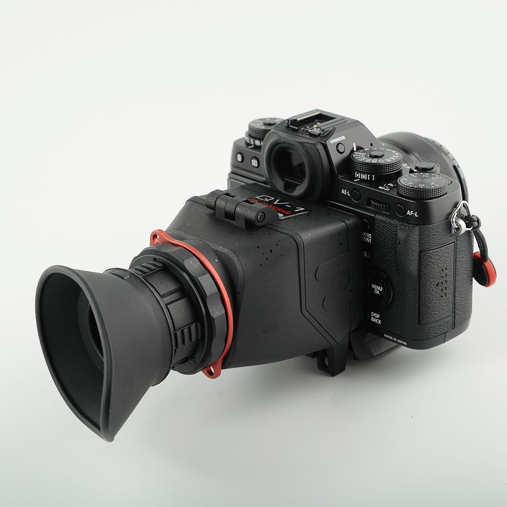 KAMERAR QV-1 LCD Viewfinder For 3-3.2 CANON Nikon Sony Olympus DSLR Cameras sevenoak sk vf01 2 5x 3 0 inch view finder viewfinder for canon nikon dslr cameras