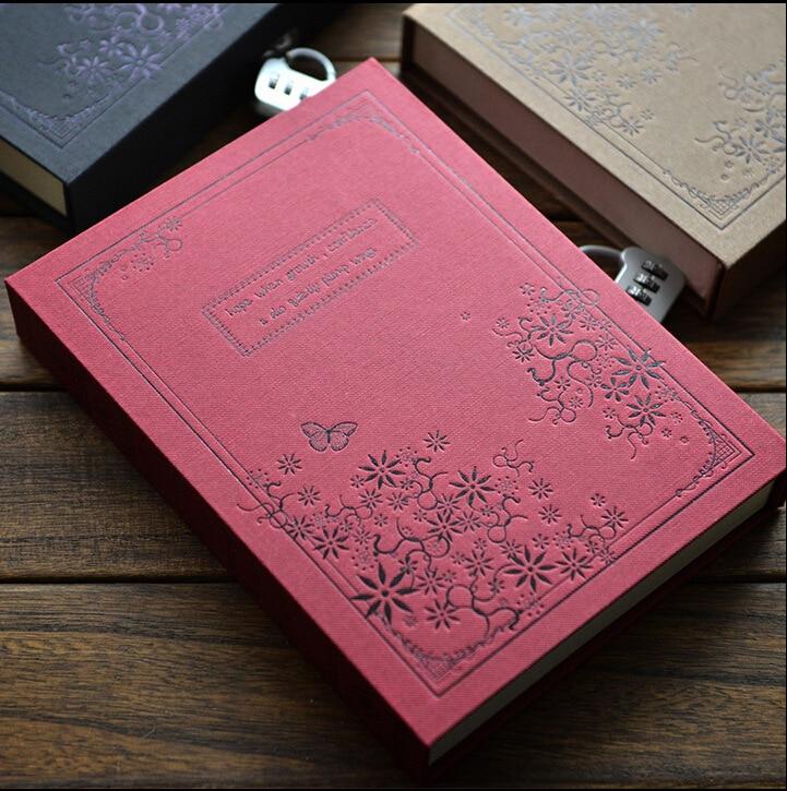 aliexpress com lock password diary books notebook vintage creative