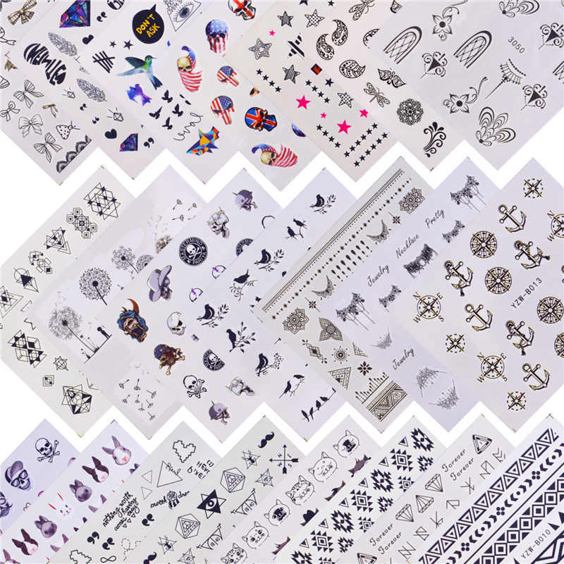 ZKO 22 Designs Available Pirate/Halloween Water Transfer Nail Art Sticker Decal Slider Manicure Wraps Tool Tips