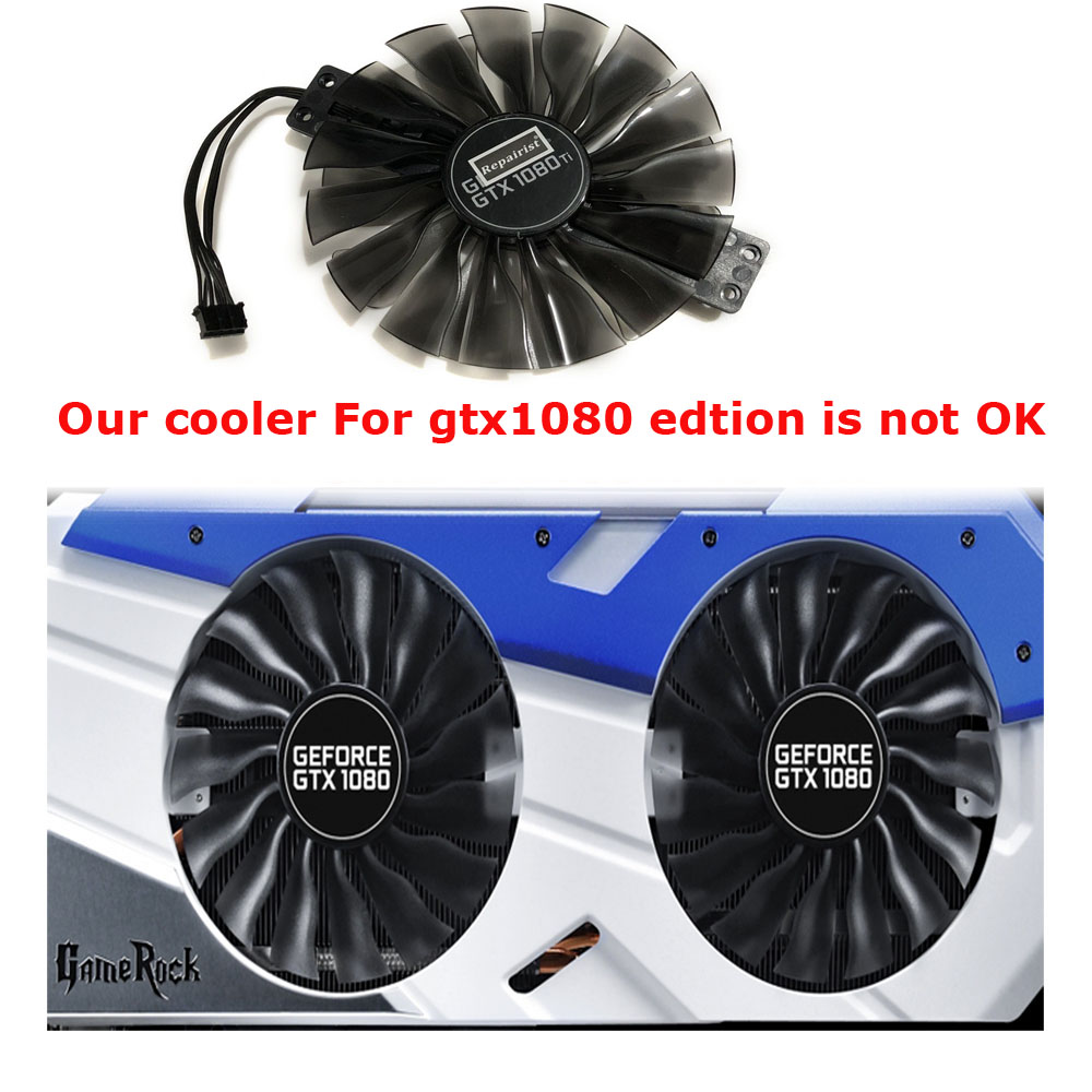 Image 4 - FD10010H12S GPU VGA Card Cooler Fan For Palit GTX 1080Ti GTX1080Ti GameRock Premium Edition Graphics Video Card Cooling-in Fans & Cooling from Computer & Office