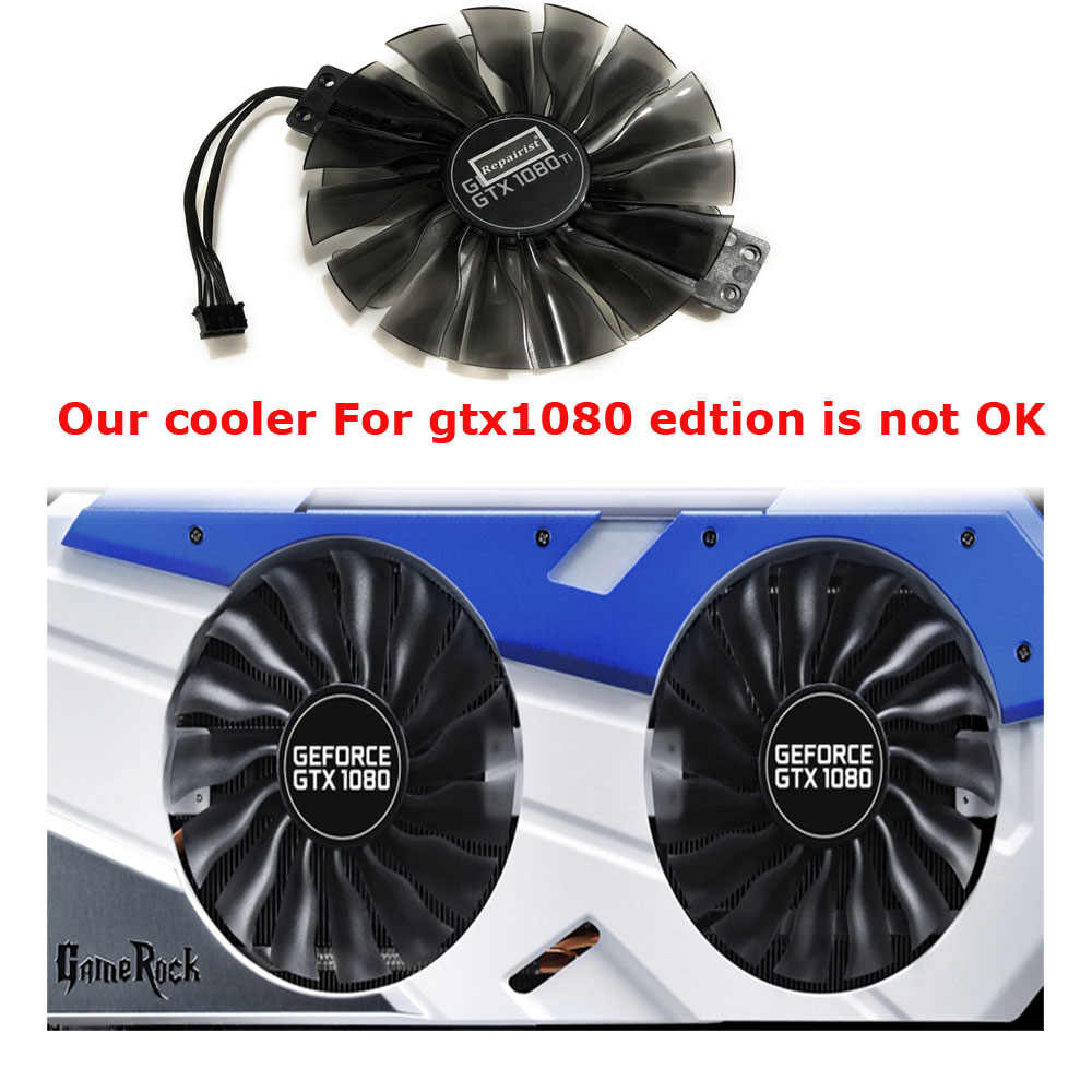 FD10010H12S GPU VGA Card Cooler Fan For Palit GTX 1080Ti GTX1080Ti GameRock  Premium Edition Graphics Video Card Cooling