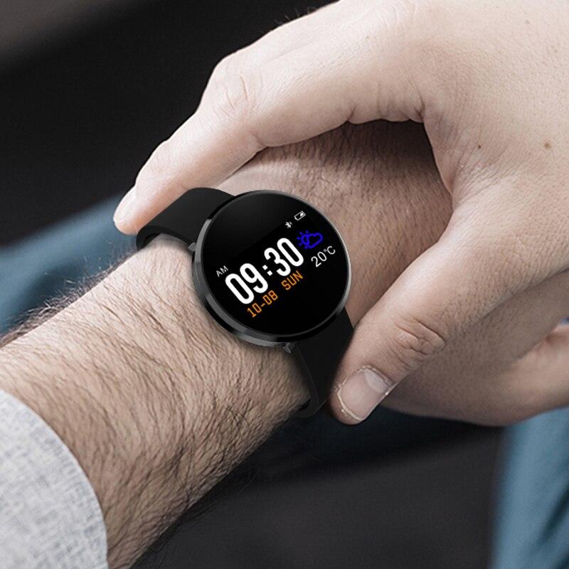 Nouveau IP68 étanche montre intelligente hommes femmes moniteur de fréquence cardiaque pression artérielle Fitness Tracker Smartwatch Sport montre f android ios