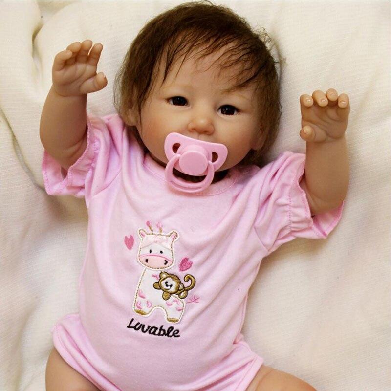 Joli Bebe Reborn 20 pouces Silicone Reborn bébé poupée 48 cm poupée Playmate cadeau pour filles anniversaire Bouquets poupée asiatique bébé filles jouet