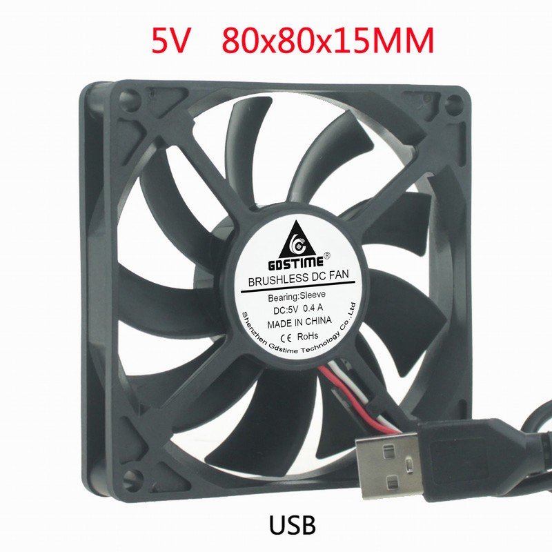 5V USB 8CM 8cm 8cm 80MM <font><b>80X80x15</b></font> Desktop Simple DIY Brushless Cooling <font><b>Fan</b></font> image