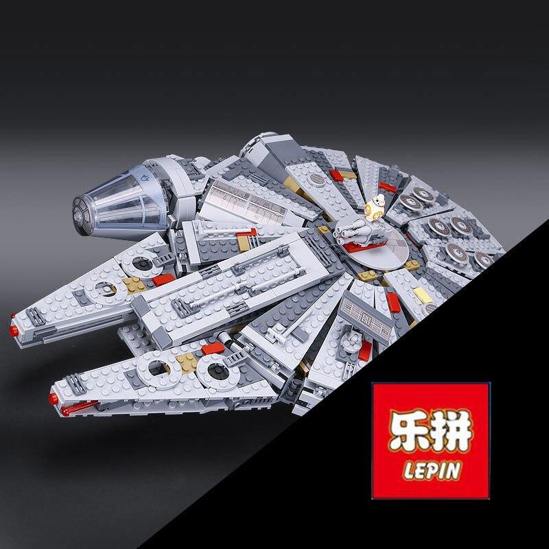 Lepin 05007 1381pcs Star Series War Force Awakens Millennium Toys Falcon Model Kits BB-8 10467 Building Blocks Bricks best gifts
