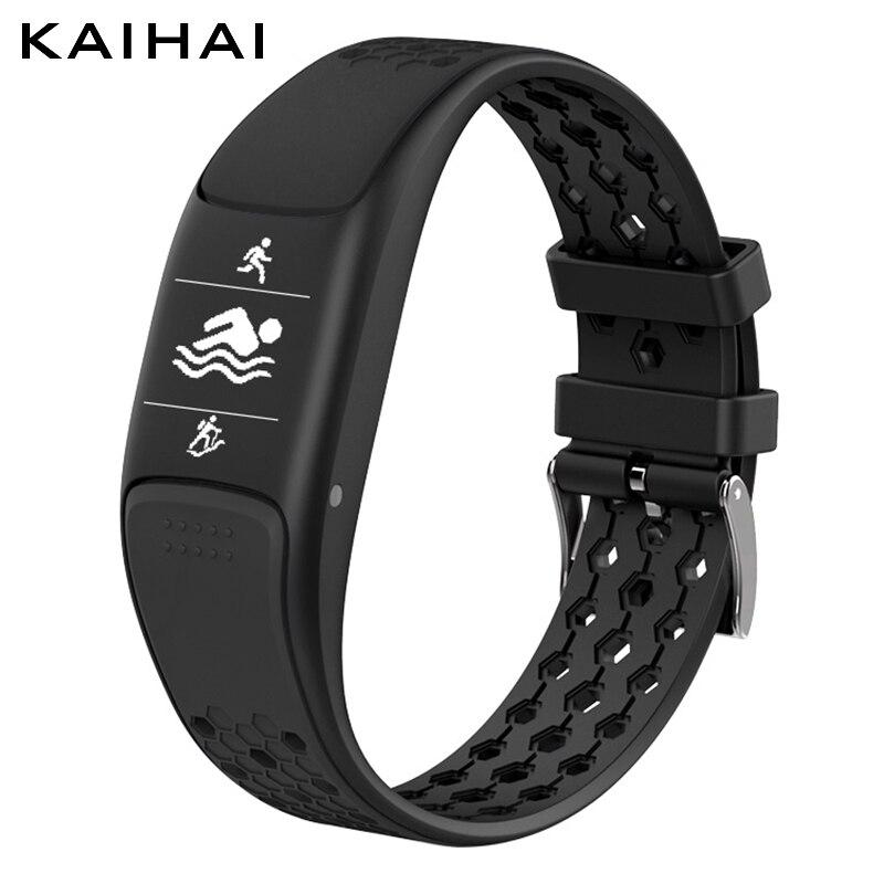 KAIHAI H88 GPS impermeable ip68 natación sport smart pulsera reloj fitness tracker wristband pulseira inteligente banda