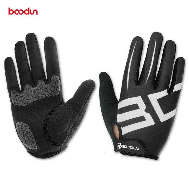 Boodun Men Women Cycling Gloves Full Finger Gel Motocycle MTB Road Bike Bicycle Riding Mittens Gants Velo guantes luva ciclismo