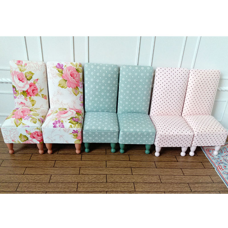 1pcs 1:6 Miniature chair for 30cm dolls dollhouse Furniture toy kawaii doll mini blue pink chair for children girls gifts pattiz 1 6 color plastic chair models diy dolls accessories action figure mini dollhouse furniture toy folding chair girl gift