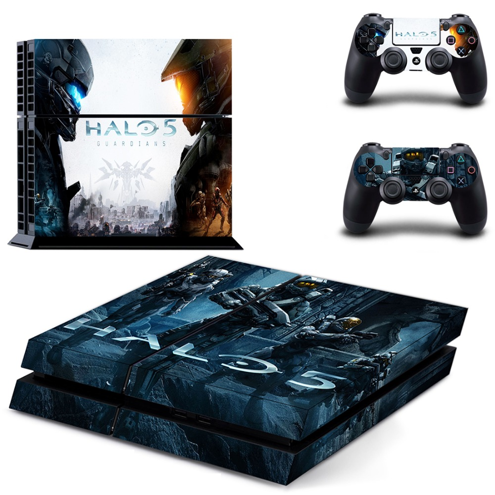 Game Halo 5: Guardians PS 4  Sticker PS4 Skin for Sony PS4 PlayStation 4 and 2 controller skins