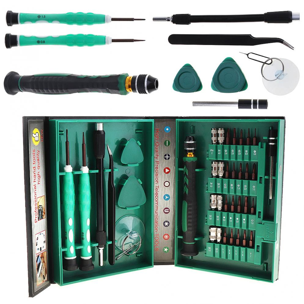 Multifunction 38 in 1 Precision Screwdriver with Disassemble Tool and Plastic Storage Box for Mobile Phone / Laptop Repair elplp68 v13h010l68 for eh tw5900 tw5910 tw6000 tw6000w tw6100 original bare lamp free shipping