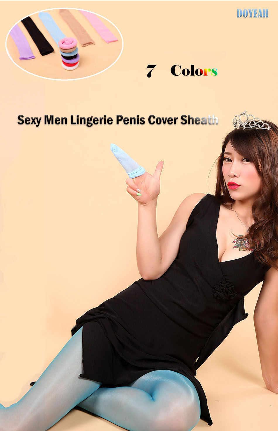 Seamless Unopen Sexy Men Lingerie Penis Cover Sheath 7 Colors Gay Underwear Panties Sex Toys DOYEAH 0638