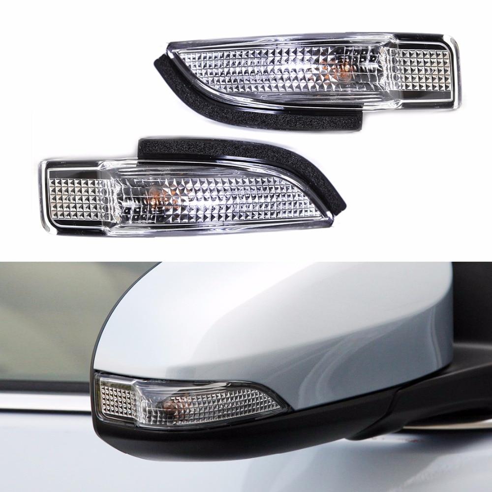 DWCX 2Pcs Car Stable 2Pin Side Mirror Indicator Turn Signal Light Lamp 81730-02140 for Toyota Camry Avalon Corolla RAV4 Prius C dwcx 3c0953041e 3c0953042e bumper turn light lamp signal lens indicator for vw passat b6 sedan