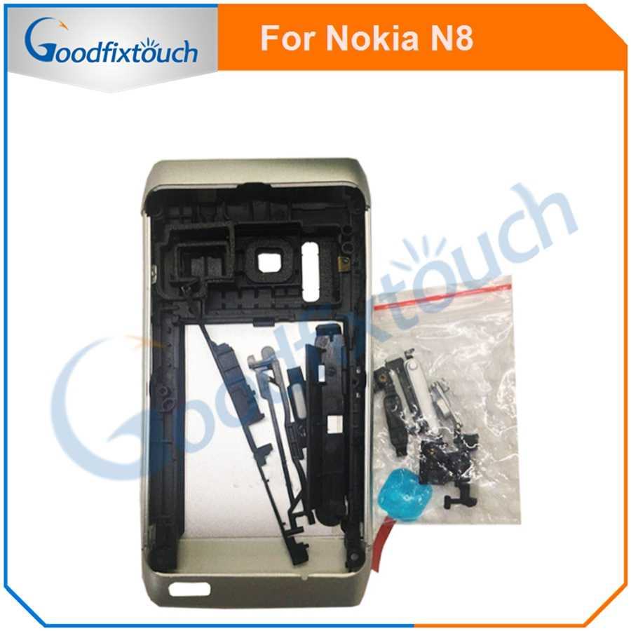 For Nokia N8 Back Battery Cover Rear Cover Glass Housing Case With Frame And Small Parts Replacement Parts