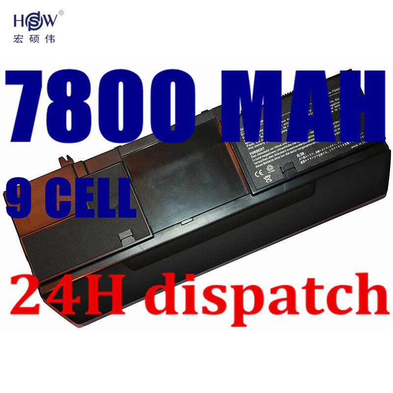 HSW 9CELL Laptop Battery for Dell Latitude D420 D430 GG386 FG442 KG126 312-0445 451-10365 GG386 KG046 PG043  451-10367 bateria apexway 6600mah 9 cell laptop battery for dell btyvoy1 for alienware m17x r3 r4 mx 17xr3 mx 17xr4 318 0397 451 11817 7xc9n c0c5m