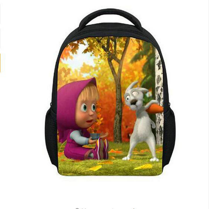 3D Cartoon Kids School Bags Mini Children Anime Masha And Bear Loveing School Rucksack Bart Simpsons Backpack For Boys And Girls hot sale girls boys cartoon children school bags cute drawstring masha