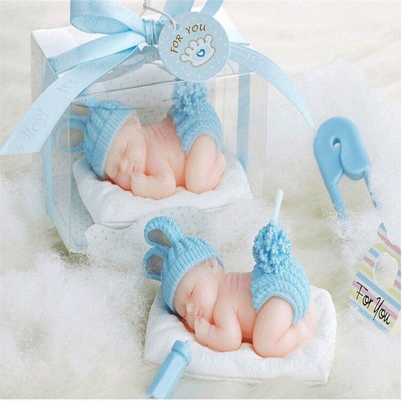 1 stuks Slaap Baby Kaars Cake Topper Blauw/roze Kaars Baby Shower Decoraties Baby Honderd Dagen DIY Verjaardagsfeestje kids-C 1