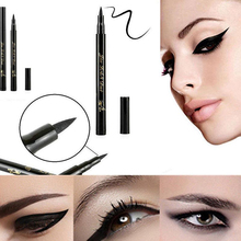 Fashion Women Pro Beauty Waterproof Makeup Cosmetic Eye Liner Pencil Black Liquid Eyeliner Pen New Lady beauty cosmetic makeup eyeliner cream grease black 3g