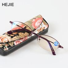 Elegant Women Alloy Half Rim High Clear Coating Anti-scratch Anti Blue Rays Lens Reading Glasses Diopter+1.0-+4.0 Y1077-8651