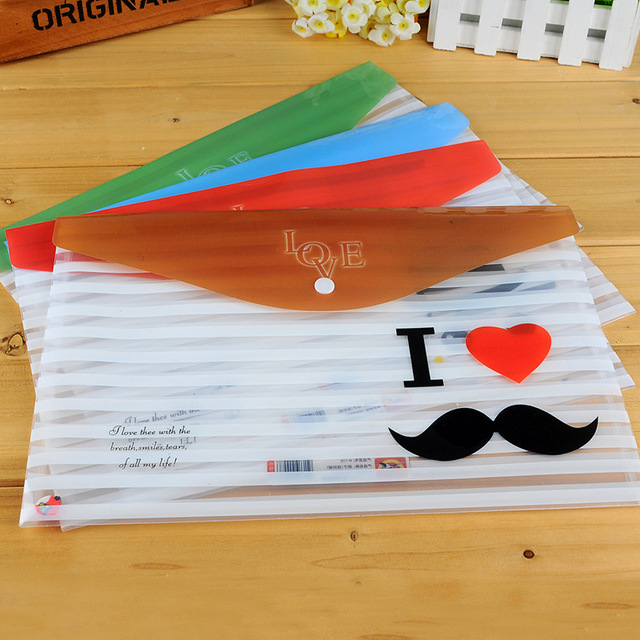 1pcs A4 Size Pvc File Folder Bag Office Supplies Portfolio