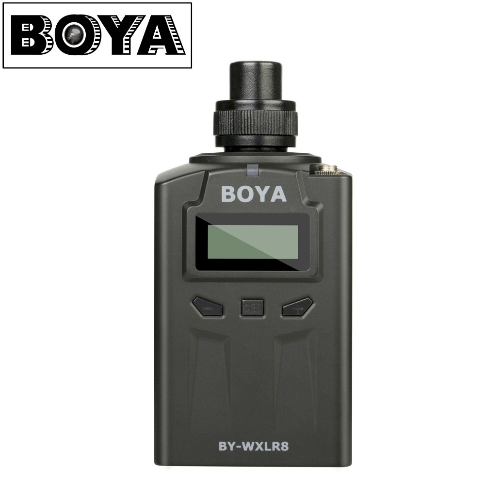 BOYA BY-WXLR8 Plug-on XLR Audio Transmitter with LCD Display for BY-WM8 BY-WM6 Wireless Lavalier Microphone System