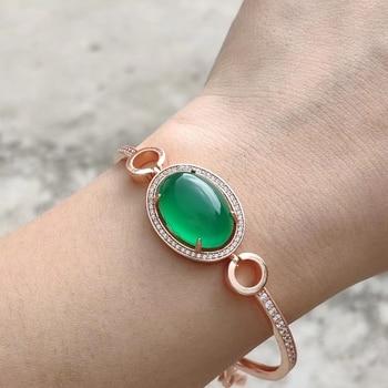 Bracelet En Jade Vert