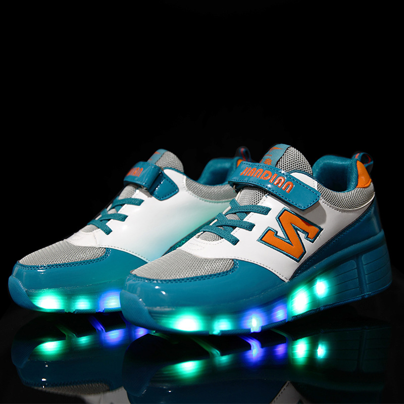 Children Growing Sneakers with Single Wheels Children's Sneaker Luminous Shoes for Boys Girls Roller Skates Kids Sneakers 321 children roller sneaker with one wheel led lighted flashing roller skates kids boy girl shoes zapatillas con ruedas