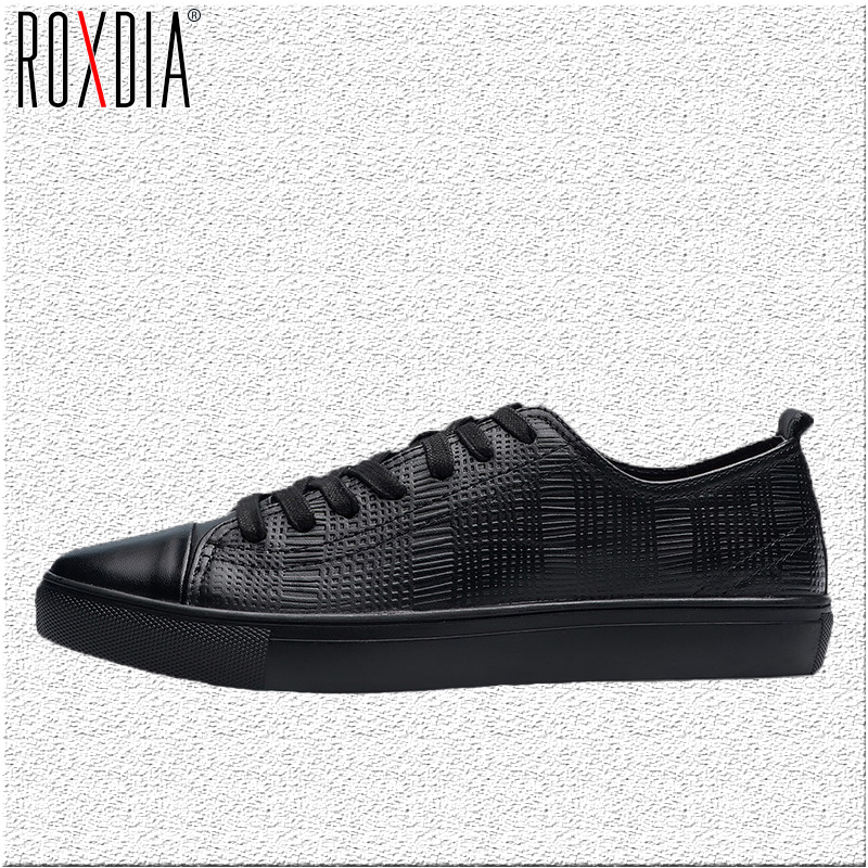 ROXDIA genuine cow leather men dress casual flats spring autumn Brand spring autumn men's loafers shoes plus size 39-48 top brand high quality genuine leather casual men shoes cow suede comfortable loafers soft breathable shoes men flats warm
