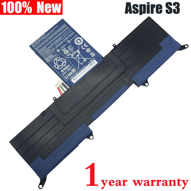 New Laptop battery for ACER Aspire Ultrabook S3 ASS3 MS2346 S3-951 S3-391 AP11D3F AP11D4F 3ICP5/65/88 3ICP5/67/90