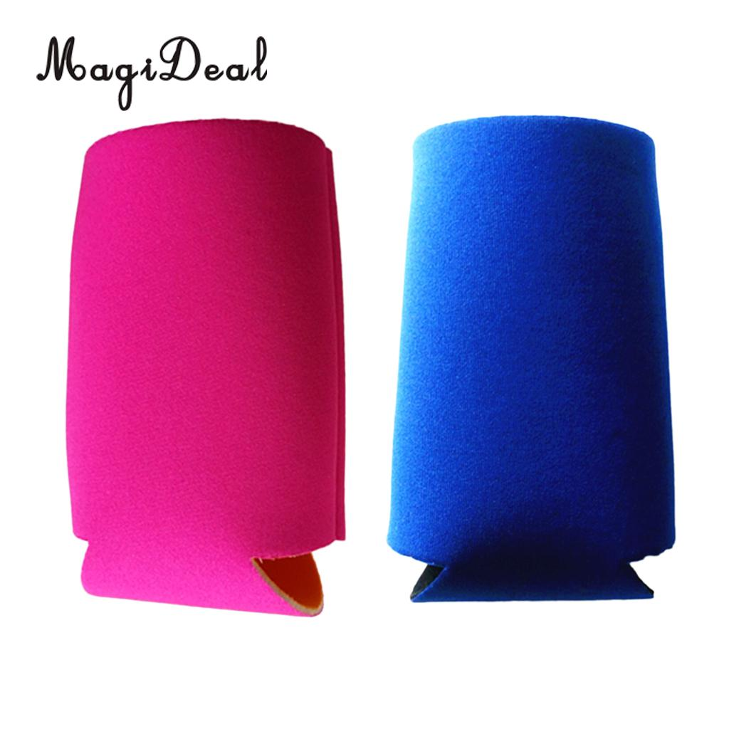 MagiDeal 2 Pieces 3mm Thick Neoprene Beer Water Drink Can Bottle Cooler Holder Sleeve Wrap Bag - Collapsible & Insulated
