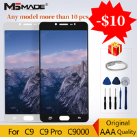 For Original LCDs Super AMOLED Samsung C9 C9000 C9 Pro LCD Display Touch Screen Digitizer Replacement Parts 100% Tested