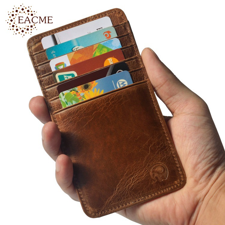 Wholesale Retro Leather 12 Slot Credit Card Case Thin Business Bank ...