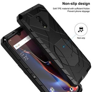 Image 5 - Para Oneplus 6 6 T Caso de Telefone Duro De Metal de Alumínio de Vidro Temperado Protetor de Tela 7 7Pro OnePlus Capa Heavy Duty proteção