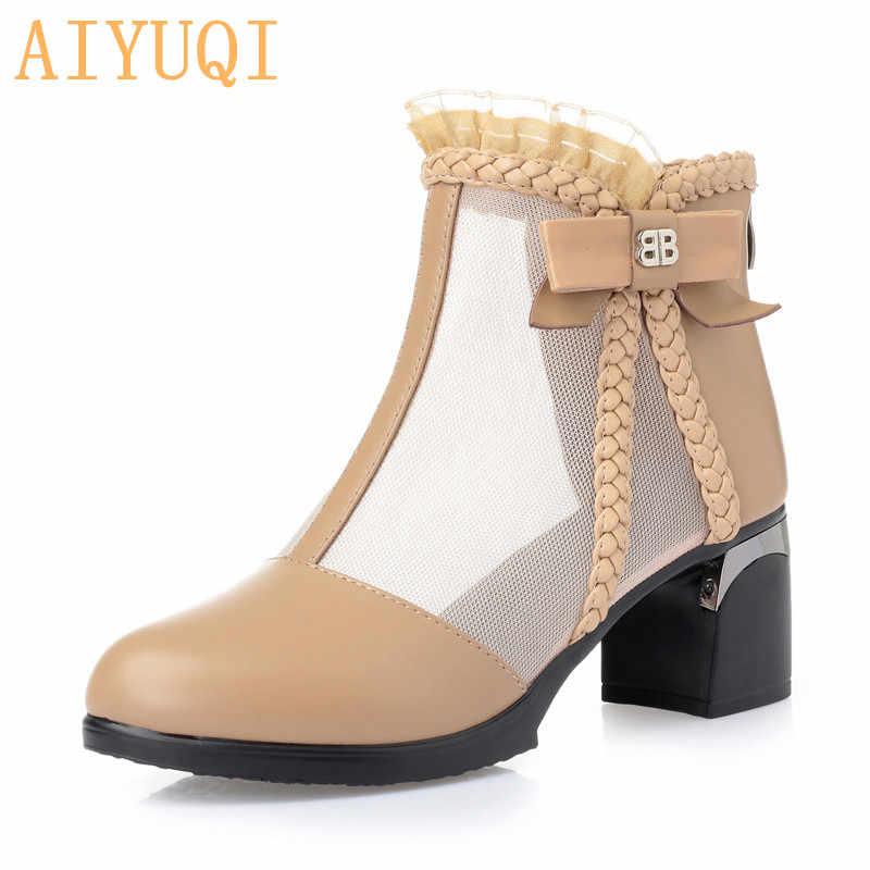 Kadın yüksek topuklu sandalet 2019 yaz yeni hakiki deri bayan elbise botları, büyük boy 41 42 43 balık ağzı sandalet kadınlar