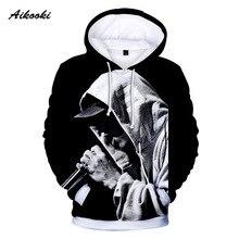 Aikooki moda nuevo diseño hombres mujeres Hoodies 3D impresión Eminem Hip  Hop 3D Hoodie sudadera abrigos 6c1dd67edca