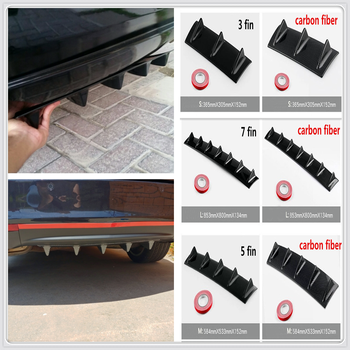 car Rear Bumper Lip Fin ABS air shark for BMW E34 F10 F20 E92 E38 E91 E53 E70 X5 M M3 E46 E39 E38 E90 M140i 530i 128i image