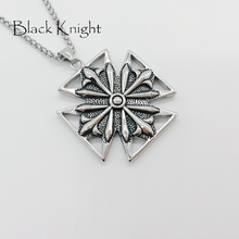 2019 S/S New Antique silver big cross pendant necklace stainless steel Punk style cool decorative cross necklace BLKN0626 недорого