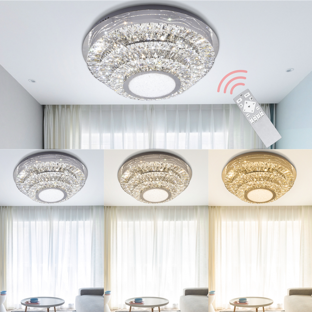 Round Square 48W 64W LED Ceiling Light Modern Crystal LED Ceiling Lamp Dimmable Indoor Lighting Living Room dining room bedroomRound Square 48W 64W LED Ceiling Light Modern Crystal LED Ceiling Lamp Dimmable Indoor Lighting Living Room dining room bedroom