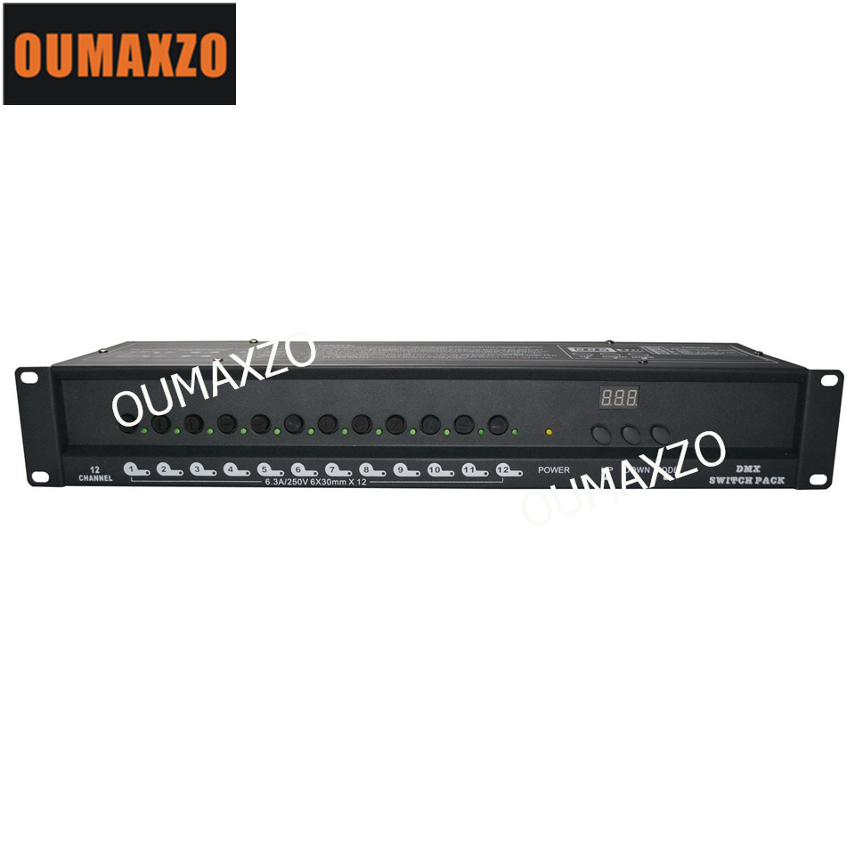 OUMAXZO-1306 12ch Dmx Power Switch Pack 12 Channel Universal 12 CH Digital Light DMX Dimmer Pack