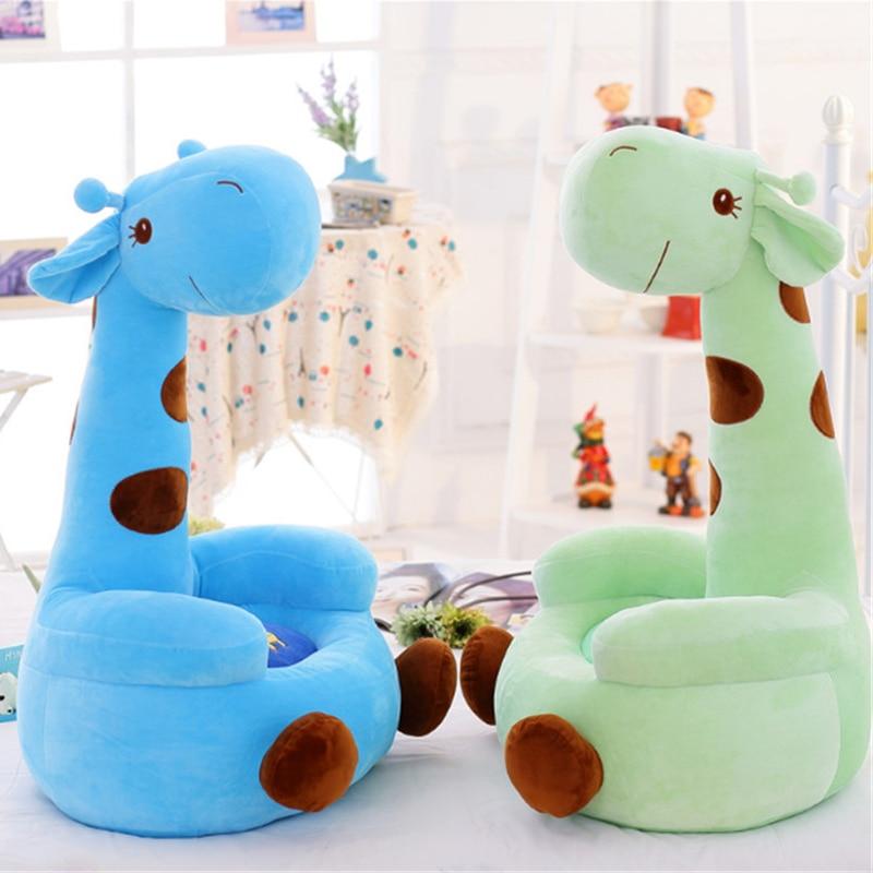 Fancytrader Giant Stuffed Soft Plush Animal Cartoon Giraffe Deer Kids Sofa Toys 28  70cm Great