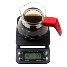 Drip Coffee Scale with Timer Electronic Digital Coffee Kitchen Scales Multifunctional Food Scale Weight Scale Precision 3kg 0.1g