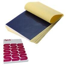 100 시트 문신 전송 용지 a4 크기 문신 용지 열 스텐실 탄소 복사기 종이 문신 공급